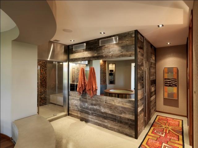 Aménagement d'une salle de bain principale montagne.
