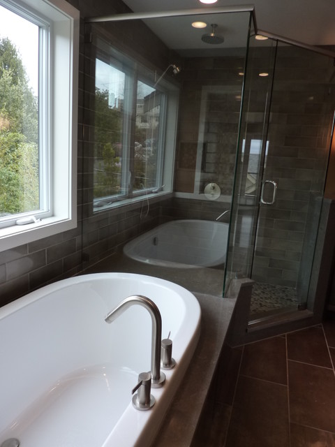 Queen Anne Second Story Addition and Remodel contemporary-bathroom