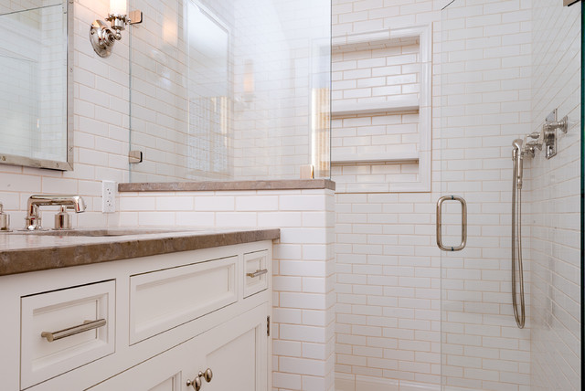 Queen Anne Shingle Style Beach House - Beach Style - Bathroom - Other - by Interior Archaeology