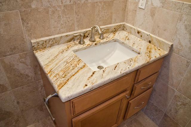 Superior Queenu0027s Gold Granite Bathroom Vanity Traditional Bathroom
