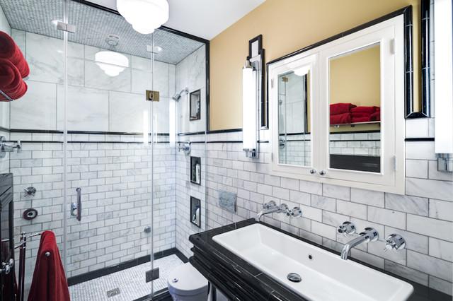 Queen village condo three transitional bathroom for Martin craig bathroom design studio