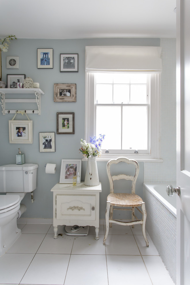 Bathroom - shabby-chic style bathroom idea in London