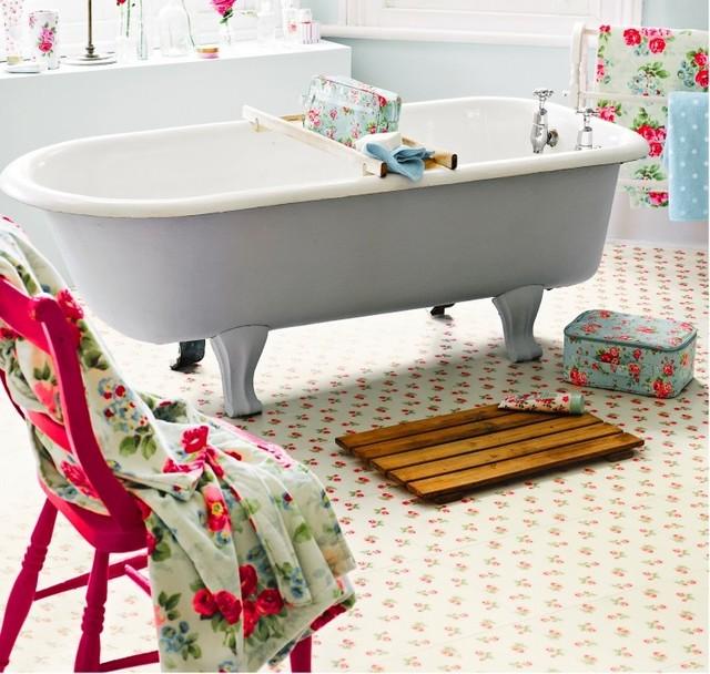 quirky luxury vinylharvey maria  eclectic  bathroom