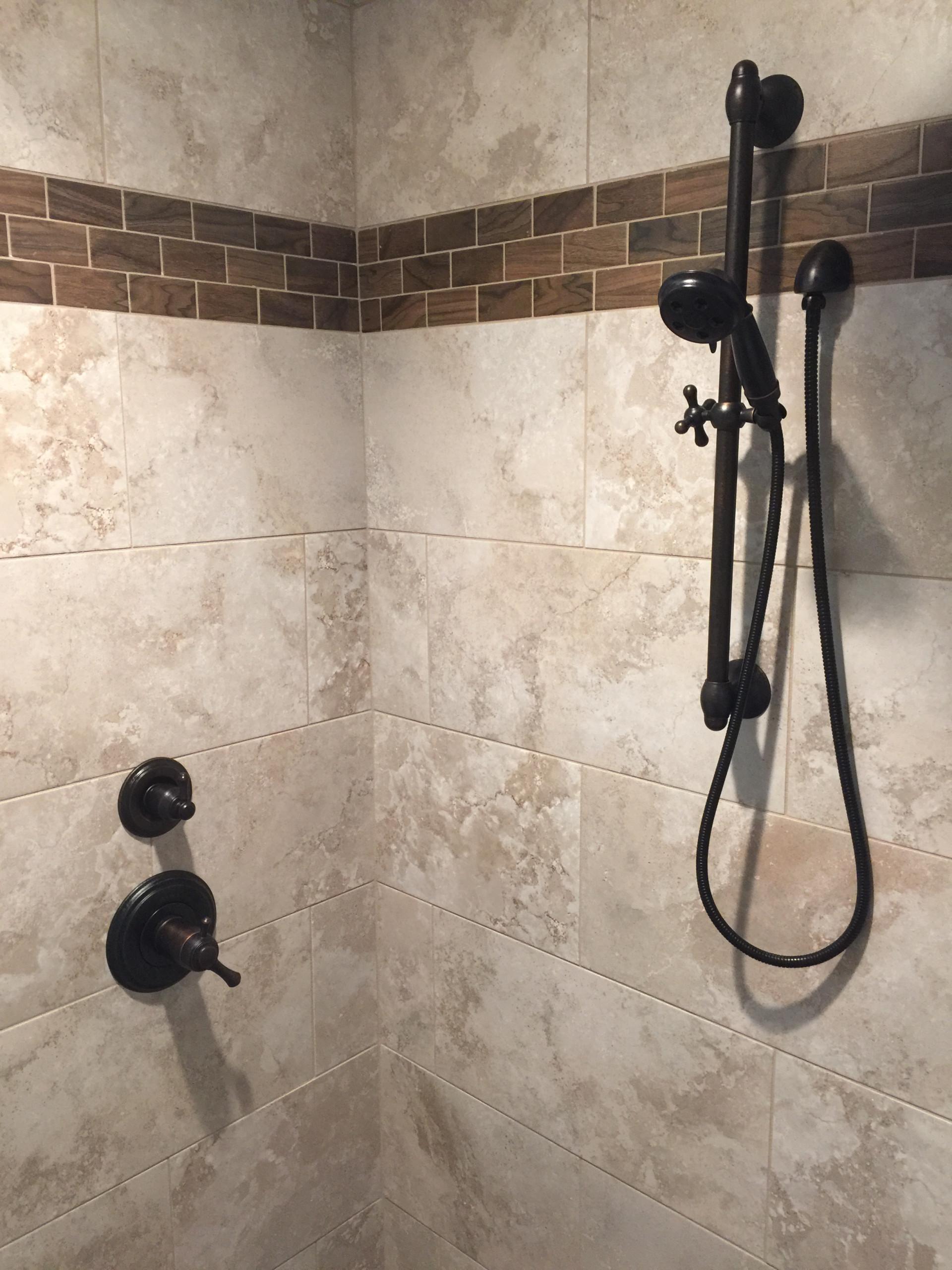 Rabbit Trail - Master Bathroom Tile Shower - 2016