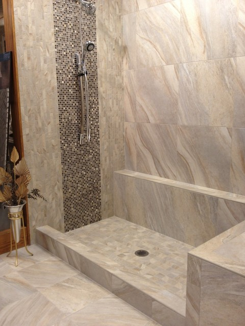 Ragno Boardwalk Grey Modern Bathroom Boston By