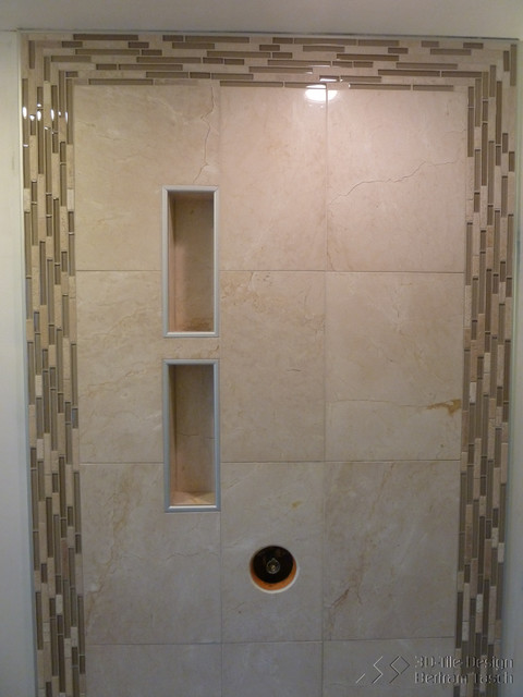 Rain Shower With Niches Maple Ridge Bc Modern