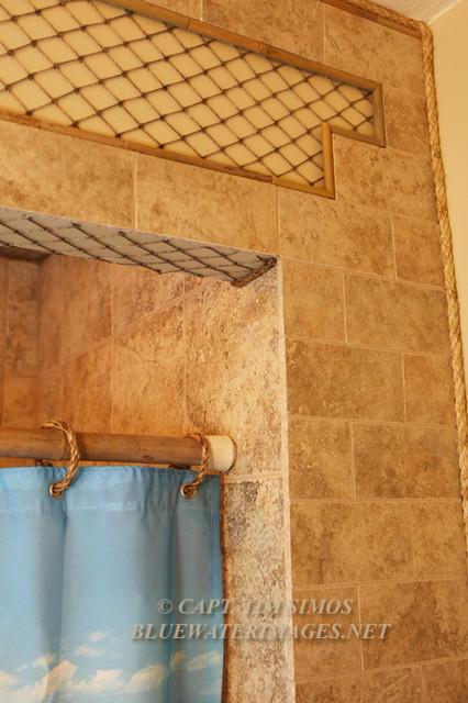 Rainbow Shower tropical-bathroom