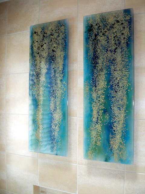 Rainforest Art Panels modern-bathroom