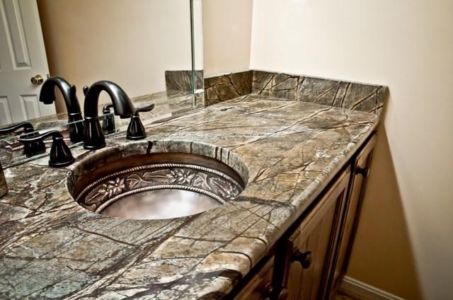 Brown Granite Bathroom Vanity