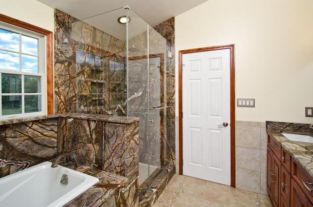 Attirant Rainforest Brown Granite Vanity, Tub Surround, And Shower Wall   Eclectic    Bathroom   DC Metro   By Granite Grannies
