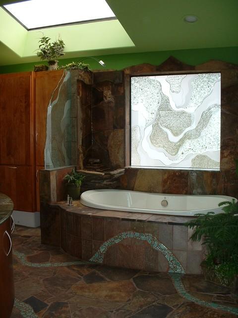 Rainforest Escape tropical-bathroom
