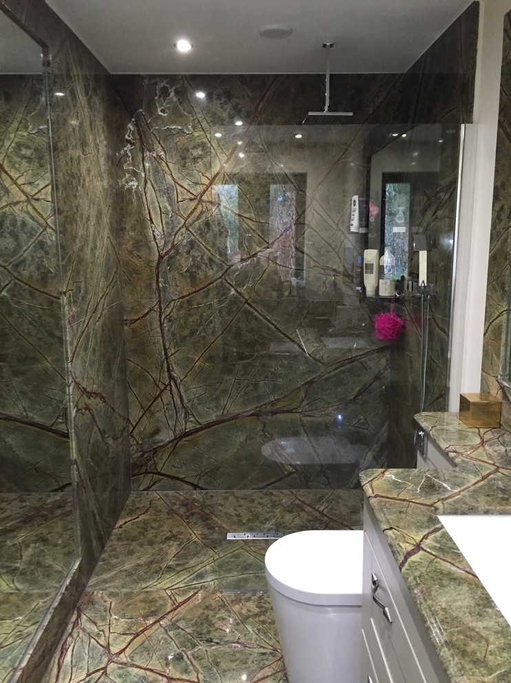 Rainforest Green Marble - bathroom - Modern - Bathroom - Other ...