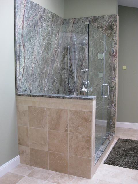 Rainforest Green Slab Shower Bathroom Dc Metro By Fa