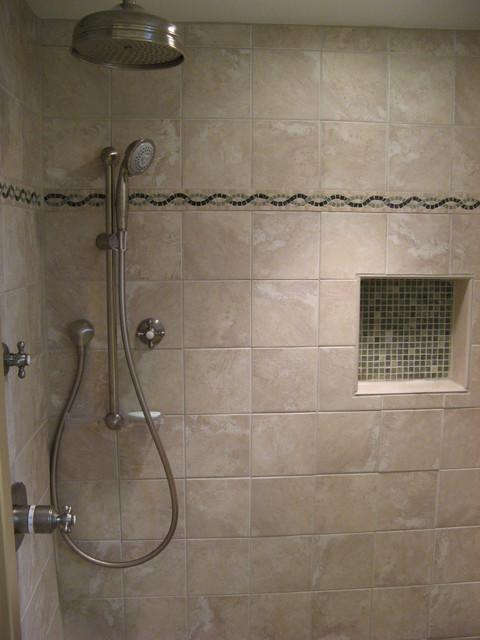 Rainhead Shower W Separate Hand Held Contemporary Bathroom