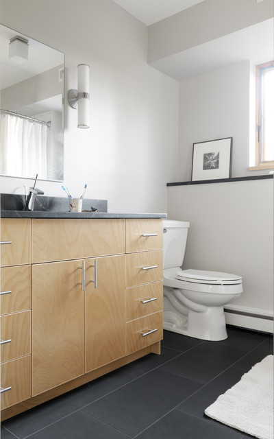 Raised Ranch Retrofit Contemporary Bathroom