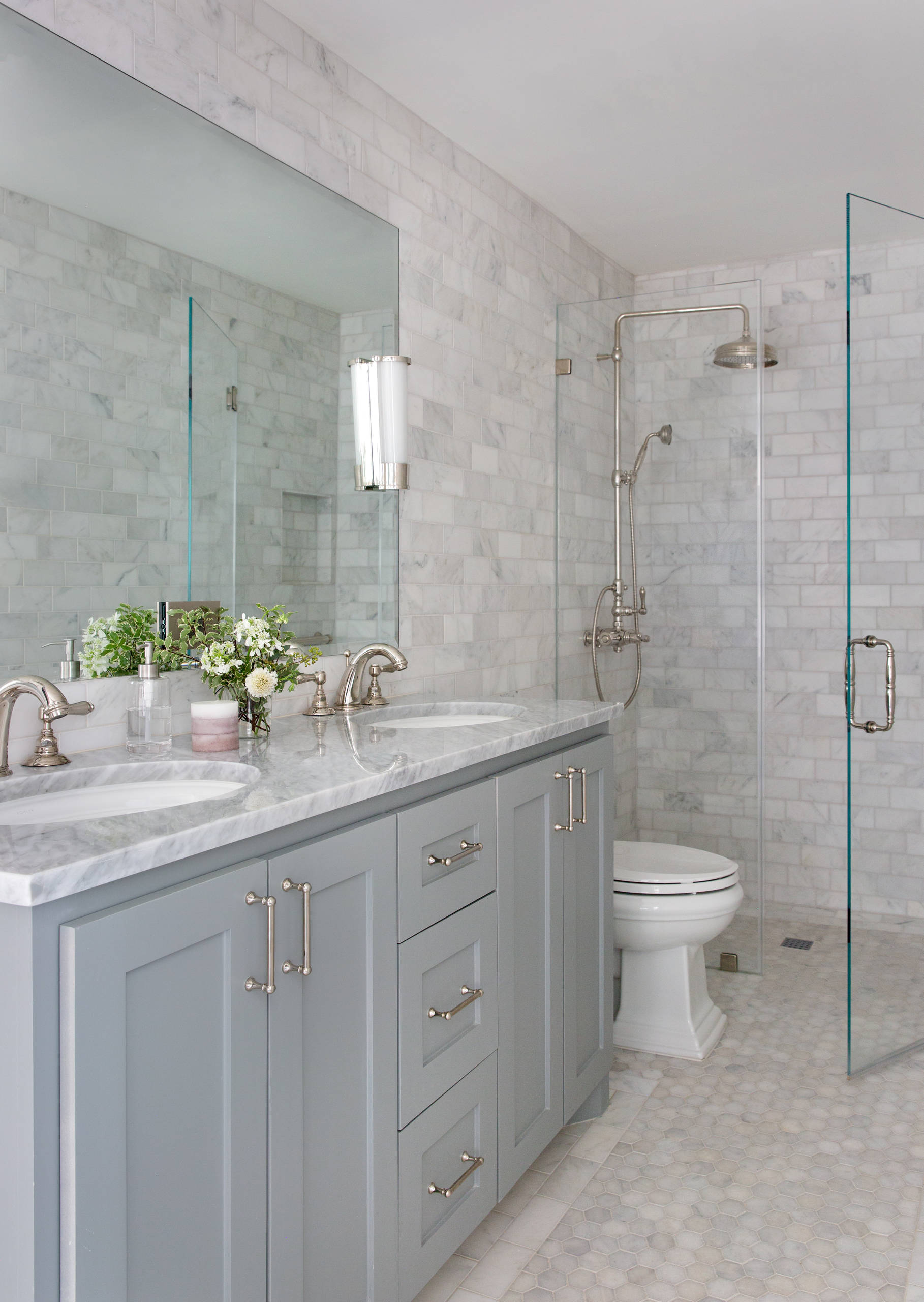 75 Beautiful Small Marble Tile Bathroom Pictures Ideas December 2020 Houzz