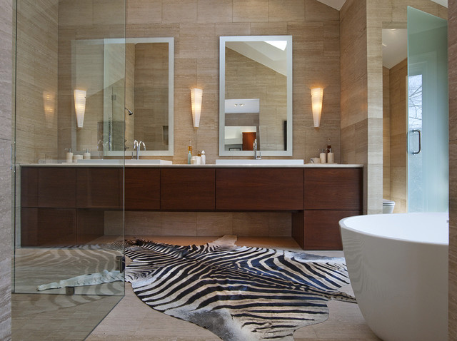 Ranch House Bathroom Renovation contemporary bathroom