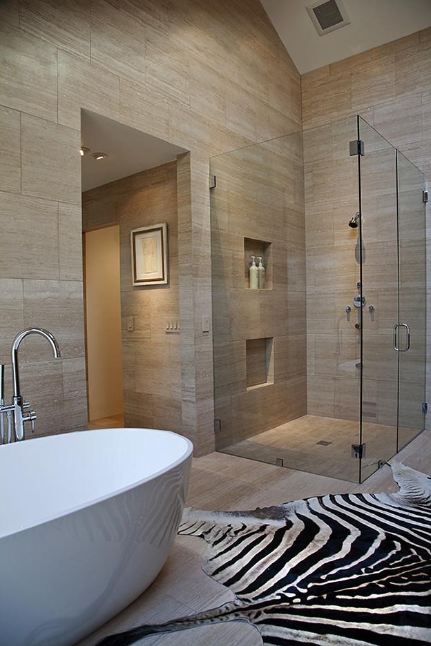 Example of a trendy bathroom design in Atlanta