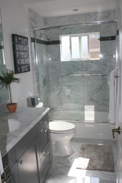 Ranch house redux contemporary bathroom san for Modern ranch bathroom