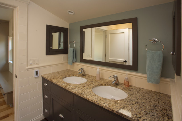 Ranch house Revival traditional-bathroom