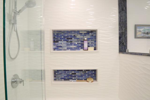 Ranch revival - Guest Bathroom transitional-bathroom
