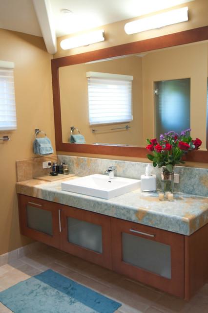 Ranch santa fe remodel contemporary bathroom san for Modern ranch bathroom