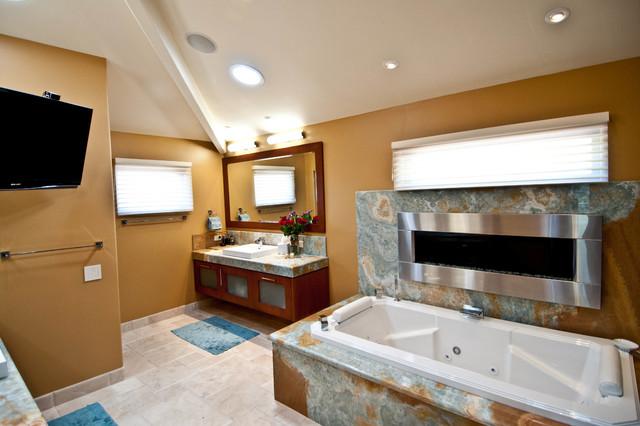 Ranch santa fe remodel contemporary bathroom san for Santa fe style bathroom ideas