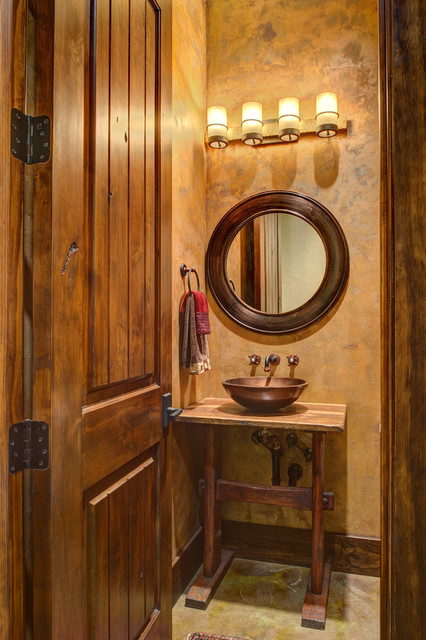 Ranch Style By The Lake Rustic Bathroom Houston