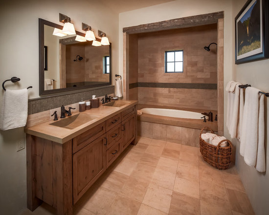 Rustic Bath Design Ideas Pictures Remodel Decor With