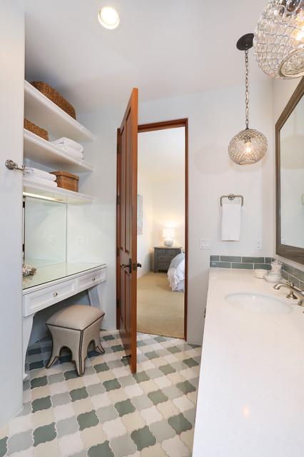 Rancho santa fe mediterranean bathroom orange county for Santa fe style bathroom ideas