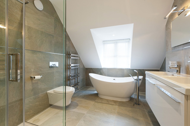 Raynes Park Contemporary Bathroom London By Barnes Design