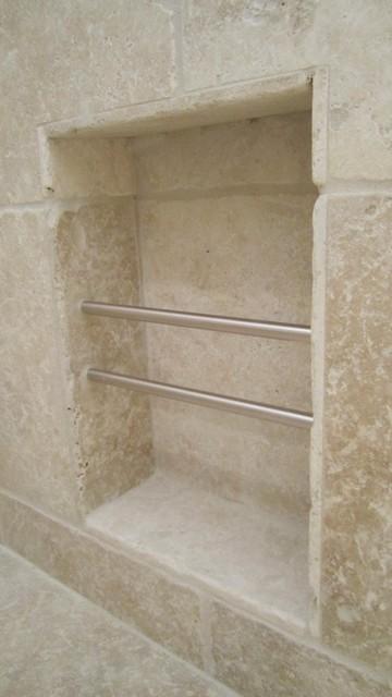 Recessed Magazine Rack Contemporary Bathroom San Diego By B3 Construction