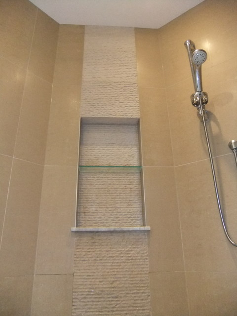 Recessed niche in shower area for Recessed area