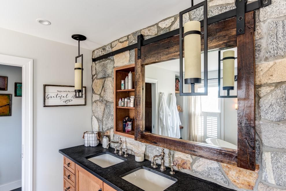 Reclaimed Rustic Barn Door Mirror