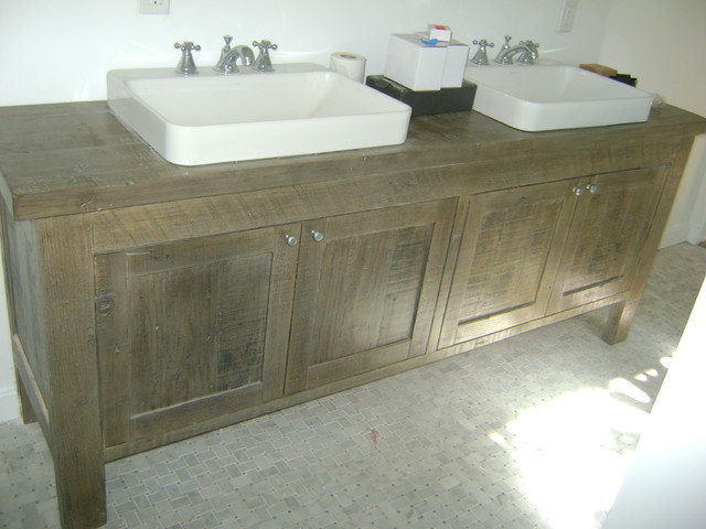 Reclaimed Wood Bathroom Vanity Contemporary