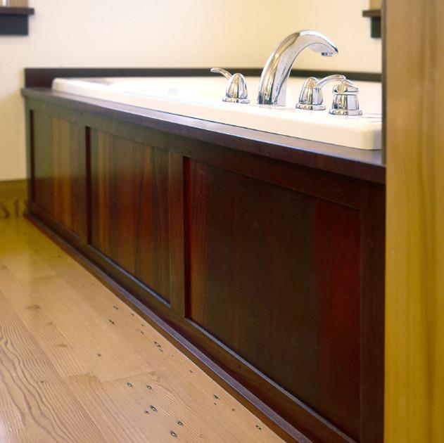 Reclaimed Wood Bathtub Surround