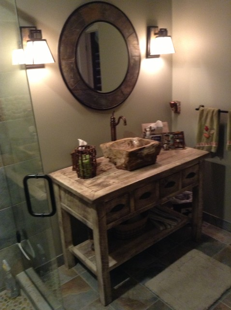 Bathroom Vanity Farmhouse reclaimed wood farmhouse vanity - farmhouse - bathroom - other