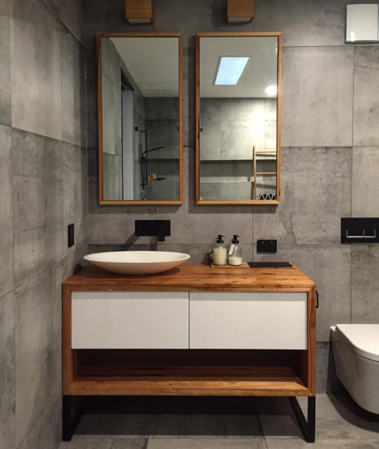 Recycled Timber Vanities Contemporary Bathroom