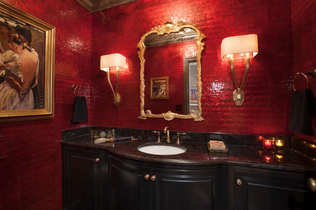 Red And Black Bathroom Design