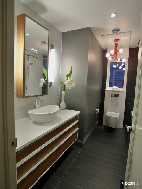 Red grey and white bathroom contemporary bathroom for Bathroom designs ottawa