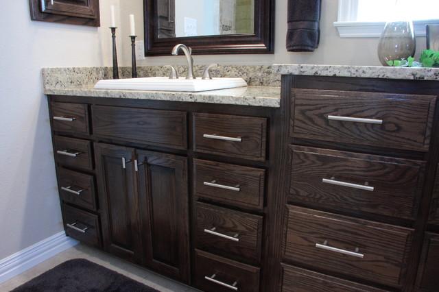 Red Oak Kitchen & Bath With Ebony Stain