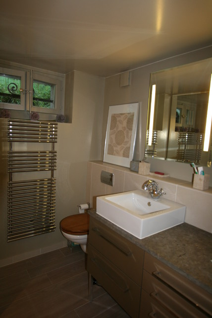 Redesign basement bathroom - Contemporary - Bathroom - other metro - by ASVInteriors