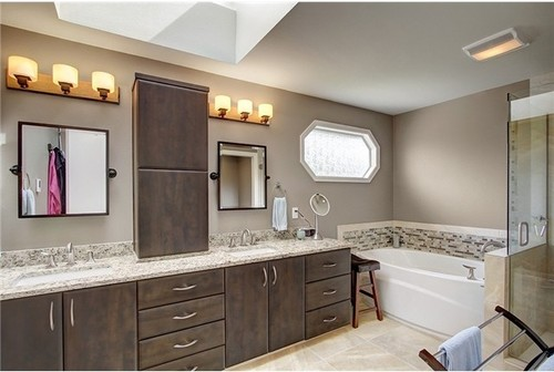 Transitional Bathroom By Bellevue Tile, Stone U0026 Countertops Kitchen Plus