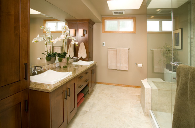 Bathroom Ideas For Medium Bathrooms : Redmond medium master bathroom remodel traditional
