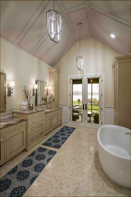 Jennifer Butler Interior Design Designers Decorators Reeds Lake English Tudor Revival Traditional Bathroom