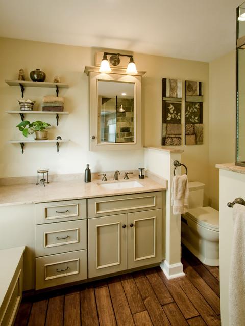 refined rustic master bath remodel ambler pa traditional bathroom