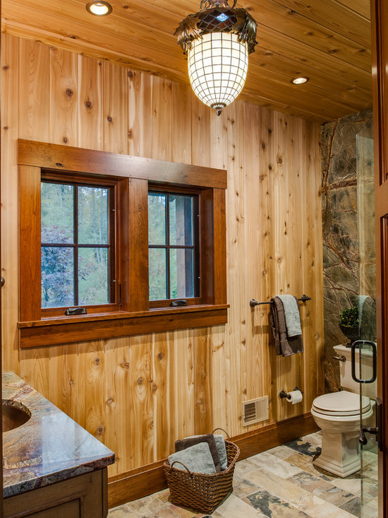 Rustic Baseboard And Trim Bathroom Design Ideas, Pictures, Remodel ...