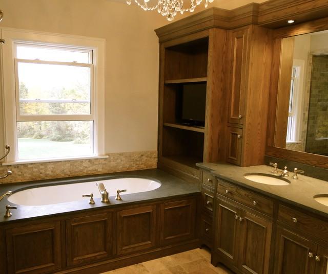 Refined Rustic Farmhouse Bathroom Boston By Zarrillo 39 S Custom Design Kitchens Inc