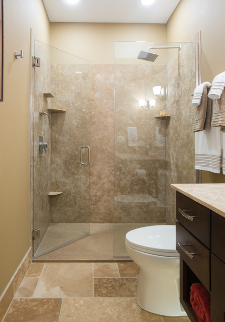 Rejuvenated 5 x 9 Bathroom traditional-bathroom