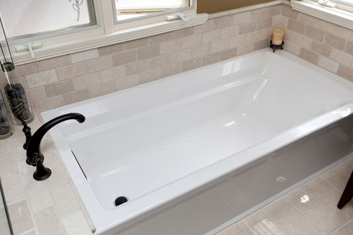 Tub Shower Bench With An Alcove Tub Installation